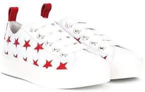 No.21 Kids star print sneakers