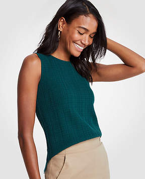 Ann Taylor Stitch Sweater Shell