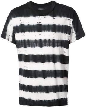 Amiri tie dye striped T-shirt