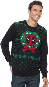 Marvel Men's Deadpool Ugly Christmas Sweater