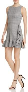 Aqua Ruffled Plaid Sheath Dress - 100% Exclusive