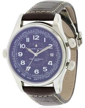 Hamilton Khaki Navi UTC Automatic Leather Men's Watch, H77505535