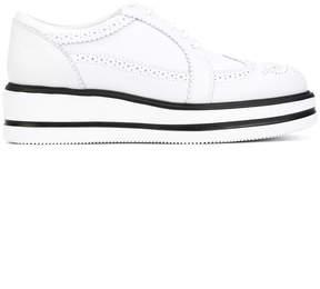 Hogan punch holes platform sneakers