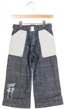 Christian Dior Boys' Chambray Wide-Leg Pants