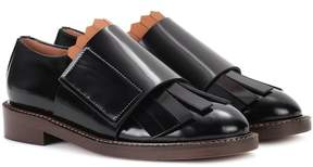 Marni Glossed-leather Oxford shoes