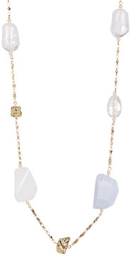 Carolee Long Mixed Stone Necklace