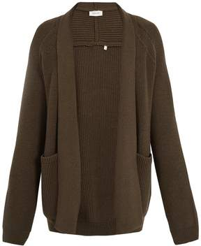 Lemaire Shawl-collar ribbed-knit wool cardigan