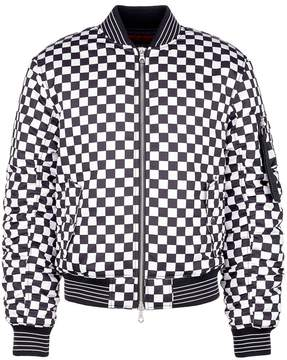 Mostly Heard Rarely Seen 'Antici...pation' rubber appliqué unisex bomber jacket