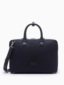 Calvin Klein engineered casual canvas satchel