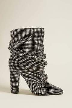 Forever 21 Chainmail Rhinestone Ankle Boots