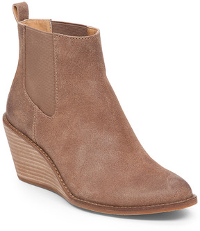 Lucky Brand Pallet Suede Wedge Chelsea Boot