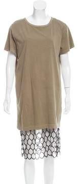 Dries Van Noten Mesh-Accented Midi Dress w/ Tags