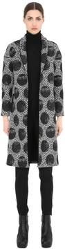 Es'givien Printed Polka Dot Kimono Coat
