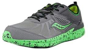 Saucony Volt Youth Round Toe Synthetic Gray Running Shoe.