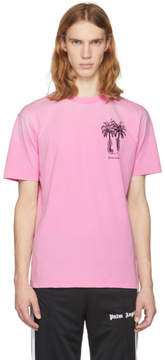 Palm Angels Pink Palms Capture T-Shirt