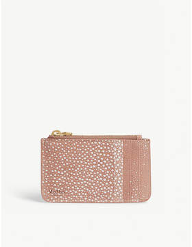 Max Mara Powder print small leather purse