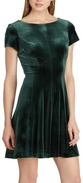 Chaps Women's Paneled Velvet Dress