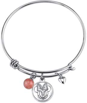 Disney Sterling Silver Love and Kisses Minnie Mouse Expandable Bangle Bracelet