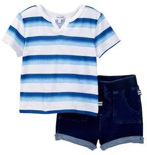 Splendid Ombre Printed Stripe & Short Set (Baby Boys)
