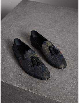 Burberry Tasselled Beasts Jacquard Loafers