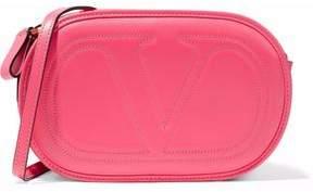 Valentino V Logo Leather Shoulder Bag