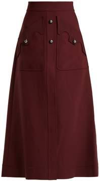 Ellery Professor A-line cady skirt