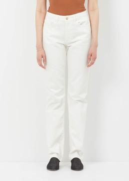 Aalto White Straight Cut Jean