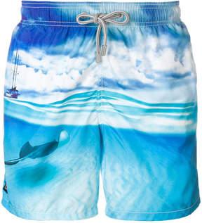 MC2 Saint Barth stingray print swim shorts