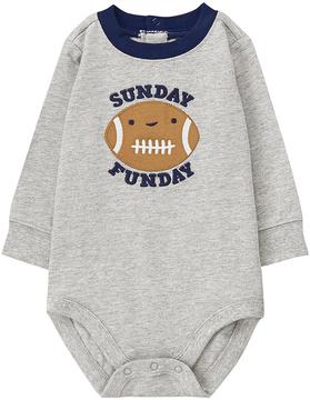 Gymboree Gray 'Sunday Funday' Football Appliqué Bodysuit - Infant
