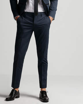Express Extra Slim Blue Satin Accent Tuxedo Pant