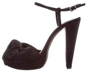 Giambattista Valli Satin Platform Sandals