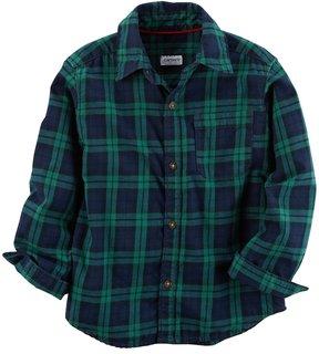 Carter's Boys 4-8 Buffalo Check Flannel Button Down Shirt