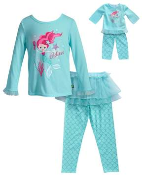 Dollie & Me Girls 4-14 Believe Mermaid Top