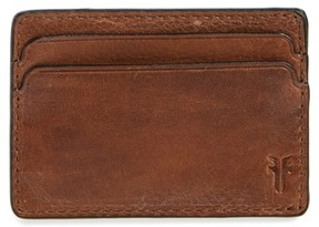 Frye Men's Oliver Leather Card Case - Brown