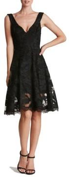Dress the Population Women's Maya Woven Fit & Flare Dress
