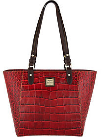 Dooney & Bourke As Is Croco Embossed Leather Tote- Janie - ONE COLOR - STYLE