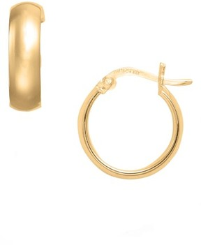 Argentovivo Women's Small Curved Hoop Earrings