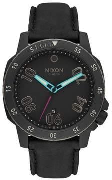 Nixon Ranger Leather A508-1320 Black Leather Analog Quartz Men's Watch