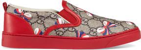 Gucci Children's GG Sylvie bow sneaker