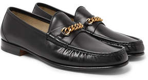 Tom Ford Chain-Trimmed Leather Loafers