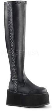 Demonia Women's Damned 302 Stretch Thigh-High Boot