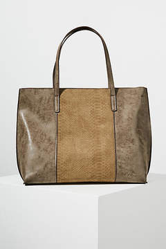 Anthropologie Caroline Snake-Embossed Tote Bag