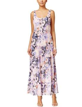 Nine West Women's Tiered Floral-Print Maxi Dress