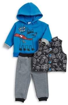 Nannette Baby Boy's Three-Piece Sweatshirt, Vest and Sweatpants