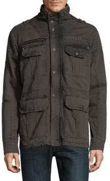 Affliction Windowpane Cotton Jacket