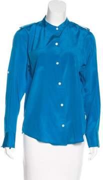 DKNY Silk Button-Up Top