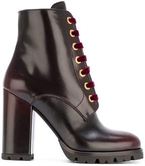 Prada lace-up boots