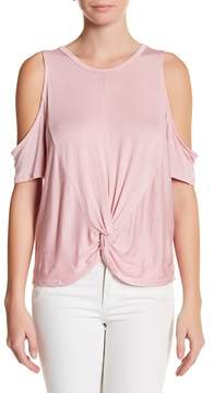Dee Elly Cold Shoulder Knot Front Tee