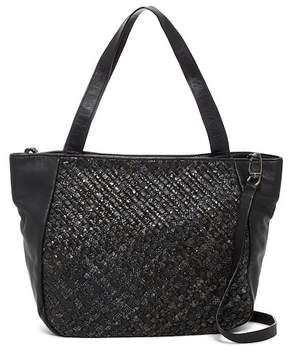 Liebeskind Berlin Tulsa Leather Woven Snake Embossed Tote Shoulder Bag