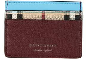 Burberry Men's 4065209 Multicolor Leather Card Holder.
